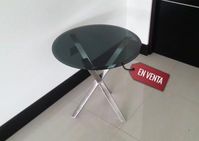 Mesa con vidrio temprerado 1
