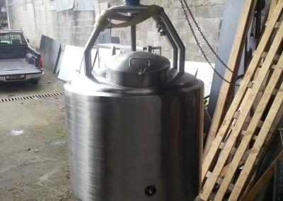 Tanque marmita con mezclador